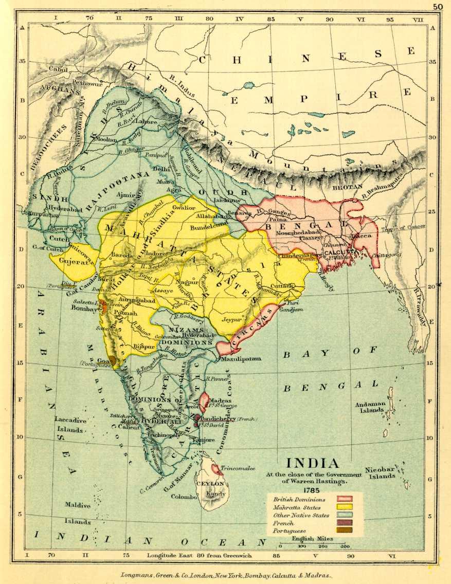 Baroda India Map.Gazetteer And Maps
