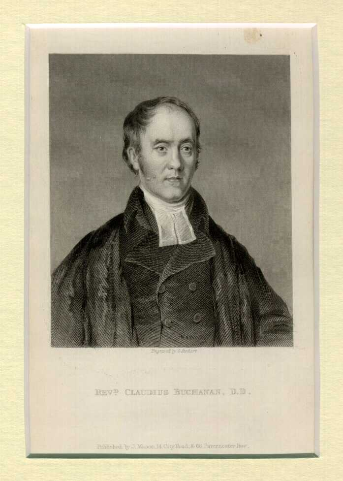 Buchanan Claudius 1766 1815 History Of Missiology